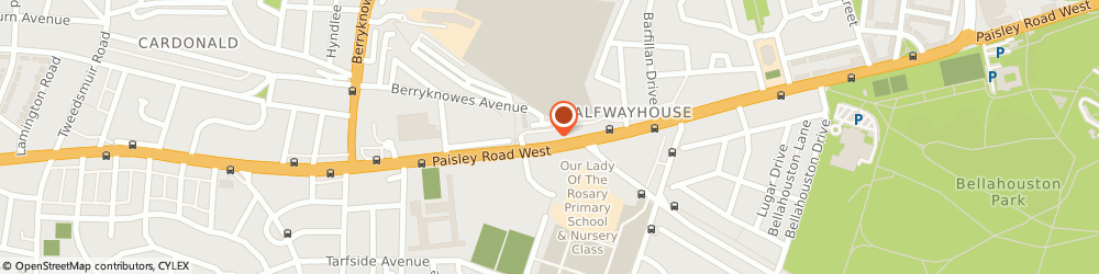 Route/map/directions to LloydsPharmacy, G52 3QN Glasgow, Unit 9 1604 Paisley Road West