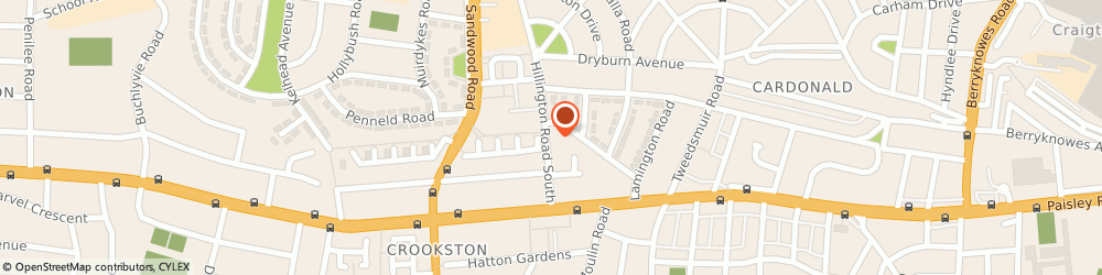 Route/map/directions to Green Baize Snooker Club, G52 2AA Glasgow, 70 Hillington Rd South