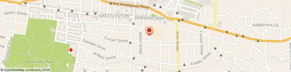 Route/map/directions to TIGERS Glasgow, G32 7UT Glasgow, Shettleston Community Centre