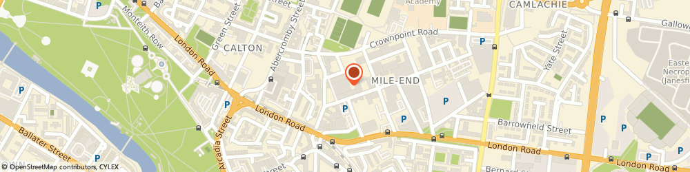 Route/map/directions to Ollie Skatewear Ltd, G40 2QW Glasgow, PARK LANE HOUSE BROAD STREET