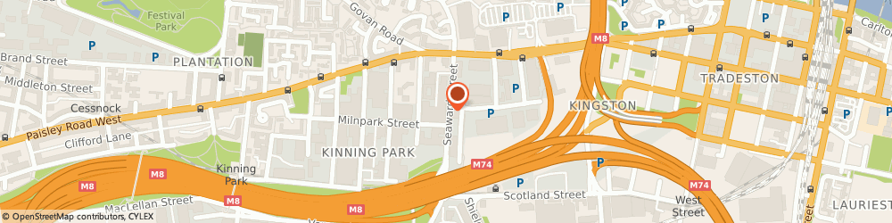 Route/map/directions to Modish Furnishing, G41 1HJ Glasgow, 82 Seaward St