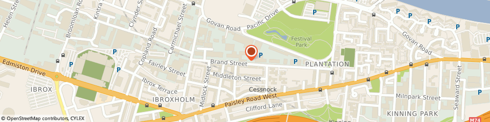 Route/map/directions to Positive People Development (Scotland) Ltd, G51 1DH Glasgow, 150 Brand St