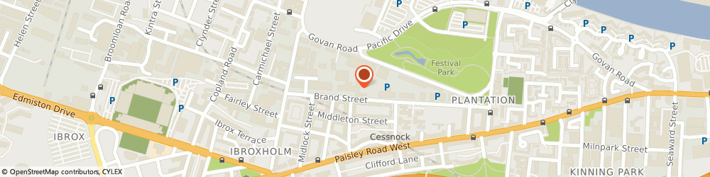 Route/map/directions to Ocean Blue Consulting Limited, G51 1DH Glasgow, FESTIVAL BUSINESS CENTRE (F5), 150 BRAND STREET