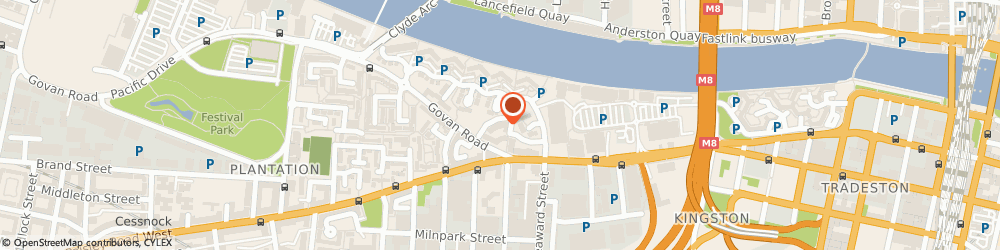 Route/map/directions to Lander Alarms, G51 1HD Glasgow, 19 Marine Cr