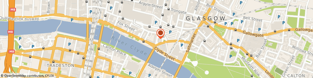 Route/map/directions to The Clutha Trust, G1 4LR Glasgow, 143 Stockwell St