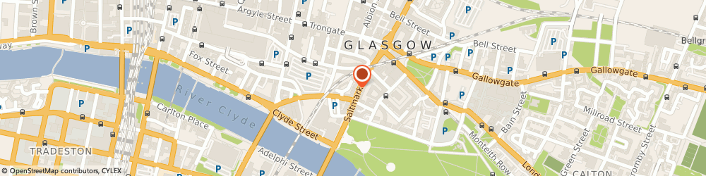 Route/map/directions to Public Defence Solicitors Office, G1 5LB Glasgow, 120-124, Saltmarket