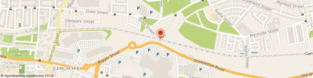 Route/map/directions to Fergusons Pet Needs & Feeds, G31 4EB Glasgow, UNIT 46-47 IN SHOPS, THE FORGE SHOPPING CENTRE