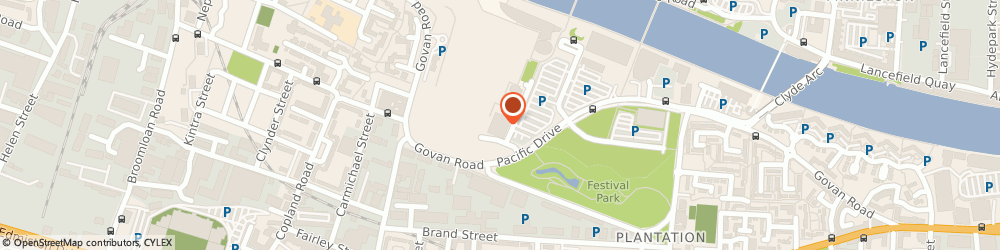 Route/map/directions to Pocapoc Limited, G51 5EA Glasgow, SUITE 2.5, THE HUB PACIFIC QUAY, PACIFIC DRIVE