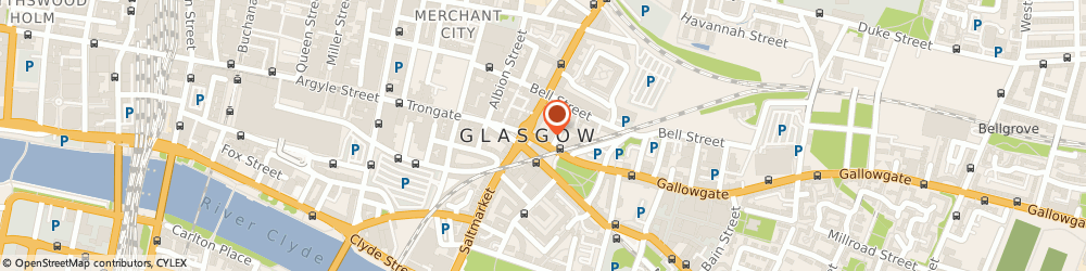 Route/map/directions to CFT LAND SECURITIES LTD, G1 5AA Glasgow, 1 THE MERCHANT BUILDING, 25 GALLOWGATE