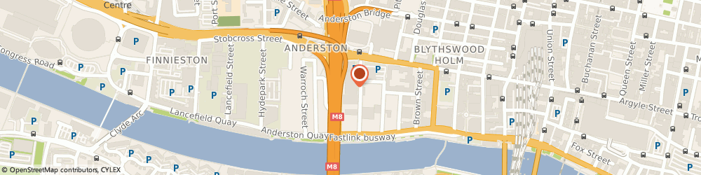 Route/map/directions to Next Gerneration Media Ltd, G3 8AZ Glasgow, 36 WASHINGTON ST, SUITE 112 THE PENTAGON CENTRE