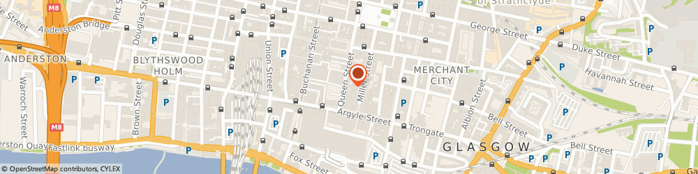 Route/map/directions to Online Marketing Scotland, G1 3DX Glasgow, 38 Queen St