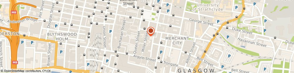 Route/map/directions to Tangent Graphic, G1 1DT Glasgow, 84 Miller St