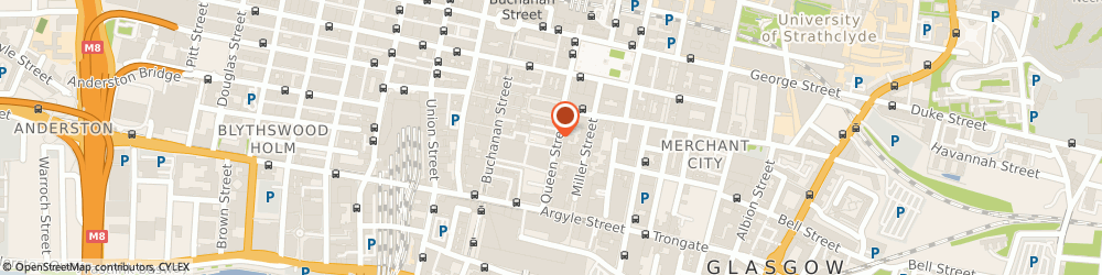 Route/map/directions to Max's Bar, Restaurant, G1 3BZ Glasgow, 73 Queen St