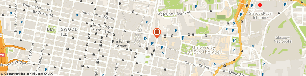 Route/map/directions to Alarm Expert Scotland, G1 2BP Glasgow, 60 N Hanover St