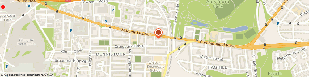 Route/map/directions to Ever Clinic, G31 3BT Glasgow, 636 Alexandra Parade