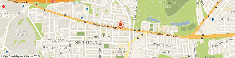 Route/map/directions to Flower Station The, G31 3BS Glasgow, 608 ALEXANDRA PDE