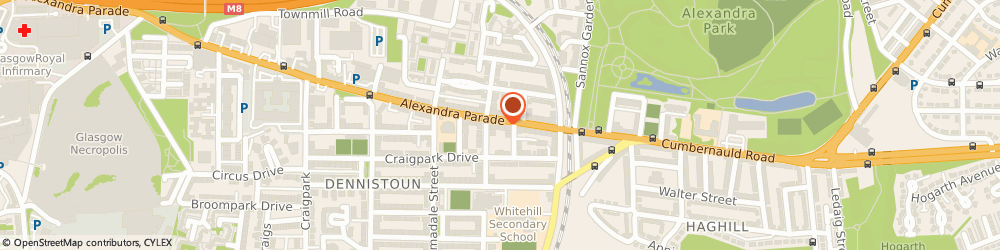 Route/map/directions to Sprigs & Twigs, G31 3BS Glasgow, 596 Alexandra Parade, Dennistoun