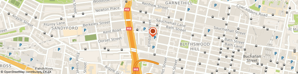 Route/map/directions to Elmbank Service Station, G2 4PG Glasgow, 41 ELMBANK STREET