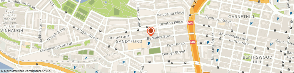 Route/map/directions to KANDALA TRAVEL LIMITED, G3 7RH Glasgow, 2 Fitzroy Pl