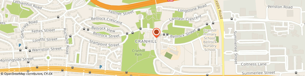 Route/map/directions to Glasgow City Council, G33 3PH Glasgow, 6 CROWLIN CRES, CRANHILL NEIGHBOURHOOD HOUSING OFFICE