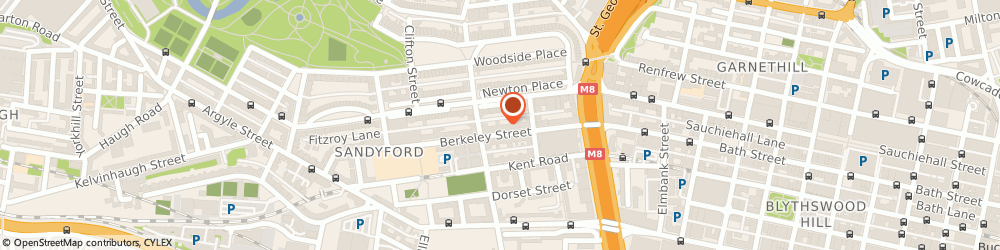 Route/map/directions to The Globetrotters Independant Hostel, G3 7DS Glasgow, 56 Berkeley St