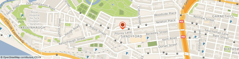 Route/map/directions to Rent An Office Space, G3 7RW Glasgow, 16 Fitzroy Place