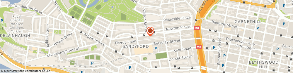 Route/map/directions to Gopwis (Age Concern Insurance) Ltd, G3 7NB Glasgow, 7 SANDYFORD PLACE