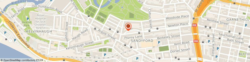 Route/map/directions to The Sandyford Lodge, G3 7SL Glasgow, 21 Royal Crescent