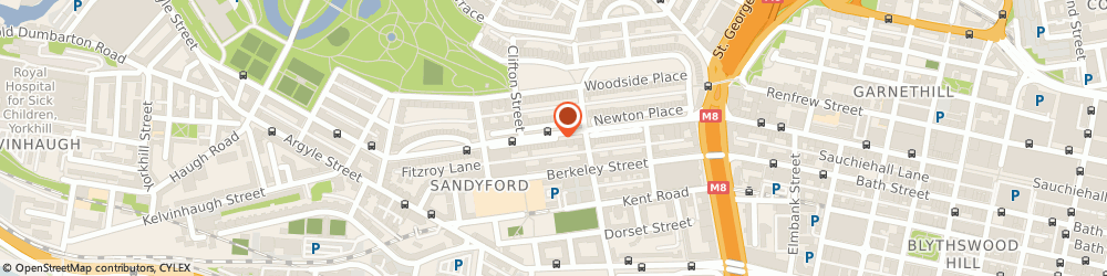 Route/map/directions to Electric Heaters Scotland, G3 7NG Glasgow, 24 Sandyford Place