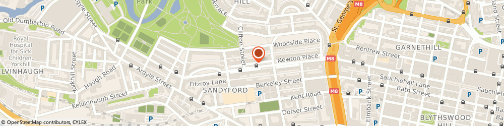 Route/map/directions to Cloud Nine Skincare Clinic, G3 7JT Glasgow, 11 Somerset Place
