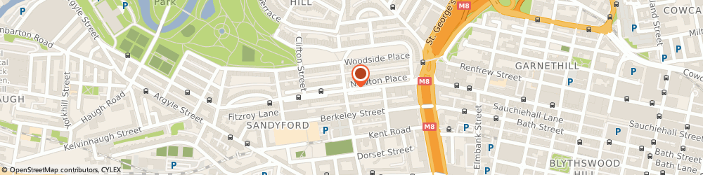 Route/map/directions to Parachute Digital Solutions Limited, G3 7PY Glasgow, 24 Newton Place