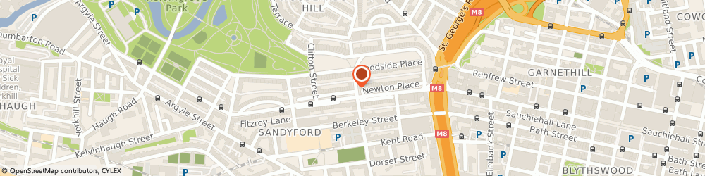 Route/map/directions to Somerset Eye Clinic Ltd, G3 7JT Glasgow, 14 SOMERSET PLACE