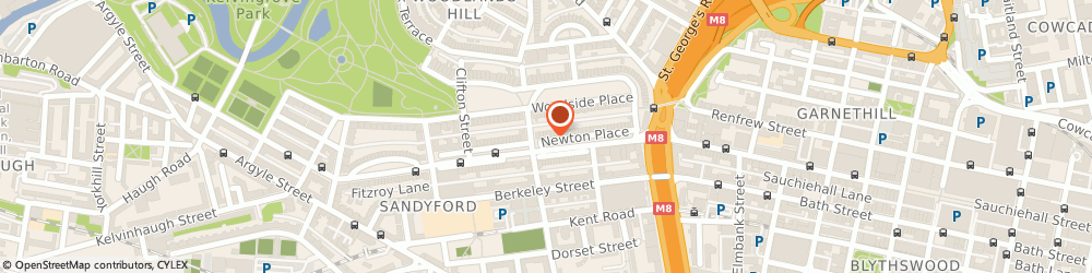 Route/map/directions to T M S Consulting & Advertising, G3 7PR Glasgow, 4 NEWTON PLACE