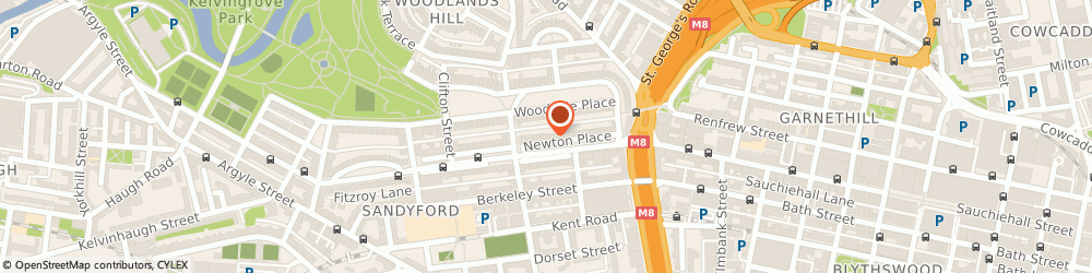 Route/map/directions to Heather Campbell, G3 7PR Glasgow, 8 Newton Place