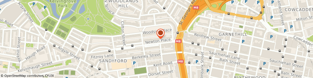 Route/map/directions to Brew Contract Cleaning, G3 7PR Glasgow, Suite 5, 13 Newton Place