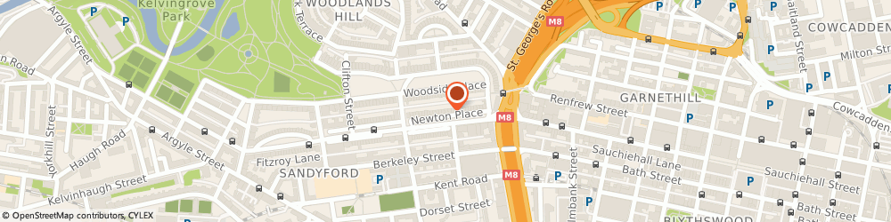 Route/map/directions to The Mantelpiece (Glasgow) Limited, G3 7PY Glasgow, 14 Newton Place