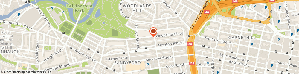 Route/map/directions to Lift Maintenance Ltd., G3 7LW Glasgow, 5 CLAIRMONT GDNS