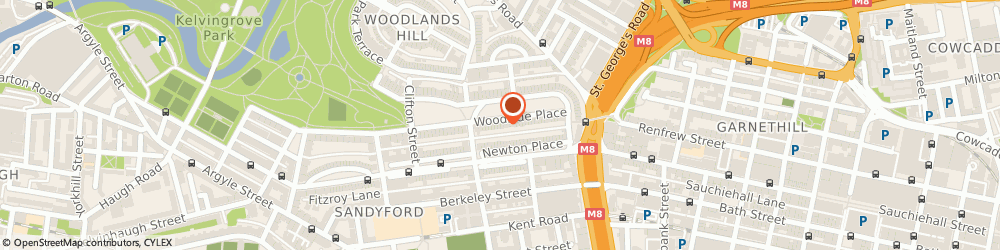 Route/map/directions to The Courier Company, G3 6AB Glasgow, 20-23 Woodside Place