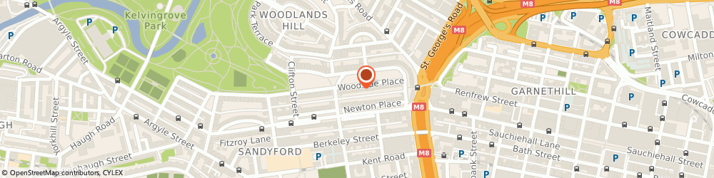 Route/map/directions to Clearwater Brookes Ltd, G3 7QF Glasgow, Woodside House, 20-23, Woodside Place