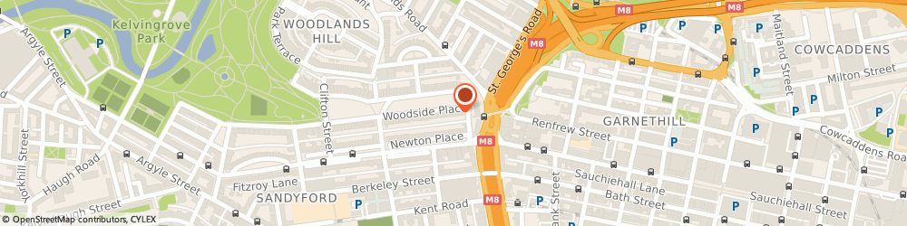 Route/map/directions to Paton Wealth Management Ltd, G3 7QF Glasgow, 4 Woodside Pl