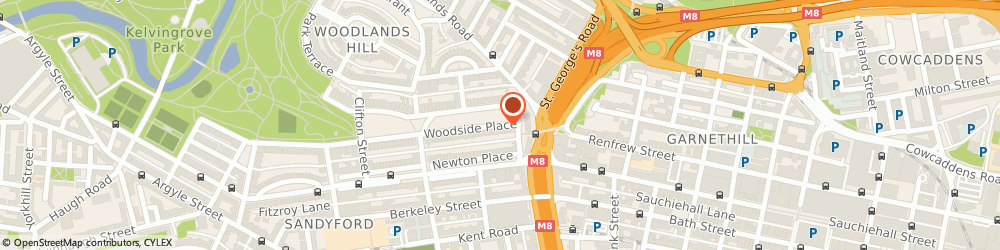 Route/map/directions to Crystal Broom, G3 7QF Glasgow, 4 Woodside Place