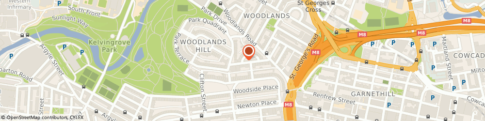 Route/map/directions to H G Group, G3 6EQ Glasgow, 20 Lynedoch Crescent