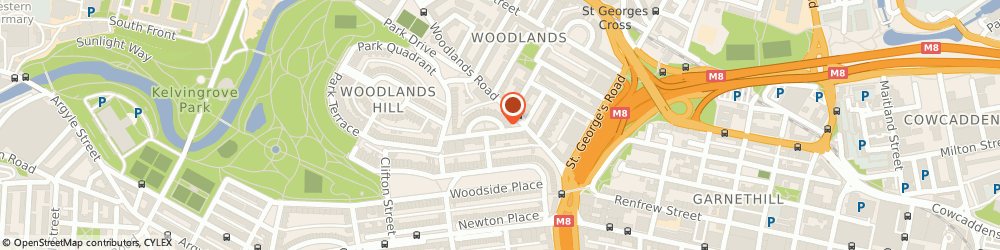 Route/map/directions to Triaxiom, G3 6EQ Glasgow, 7 LYNEDOCH CRESCENT