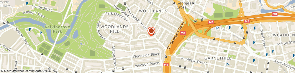 Route/map/directions to A McInnes Gardner & Partners, G3 6DZ Glasgow, 7, Lynedoch Crescent