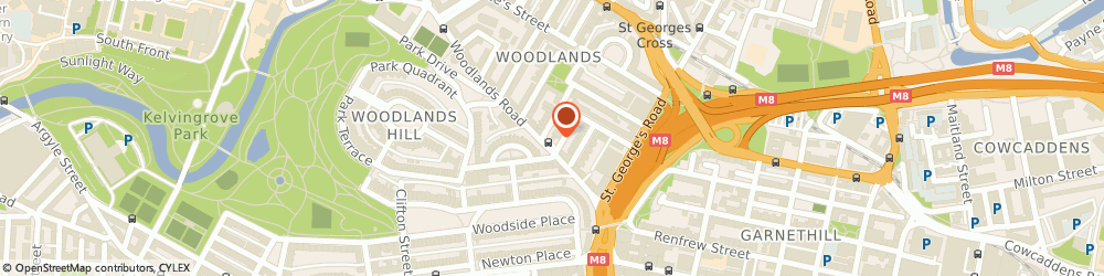 Route/map/directions to Sainsbury's Petrol Station, G3 6HA Glasgow, 88 Woodlands Road