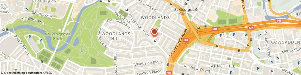 Route/map/directions to Glasgow-Herbalist, G3 6HB Glasgow, 100 WOODLANDS ROAD