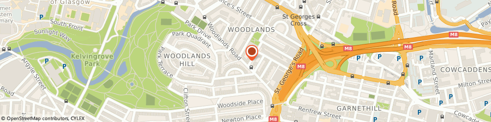 Route/map/directions to Woodland Herbs, G3 6HB Glasgow, 100 Woodlands Rd