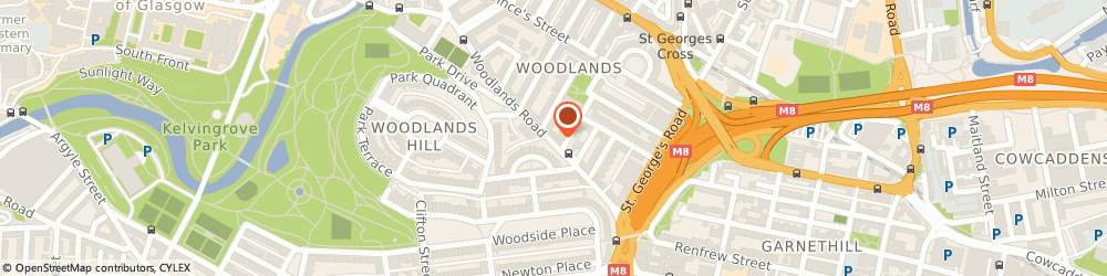 Route/map/directions to Glasgow-Acupuncture, G3 6HB Glasgow, 100 WOODLANDS ROAD