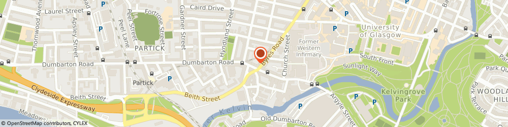 Route/map/directions to DPD Parcel Shop Location - Partick Pharmacy, G11 6XE Glasgow, 160 Dumbarton Road