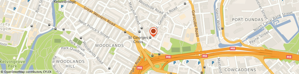 Route/map/directions to Malik, G3 6JQ Glasgow, 287 St George's Rd